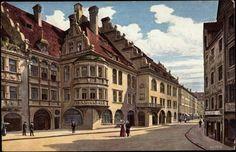 Platzl, Hofbräuhaus (Postcard around 1900)