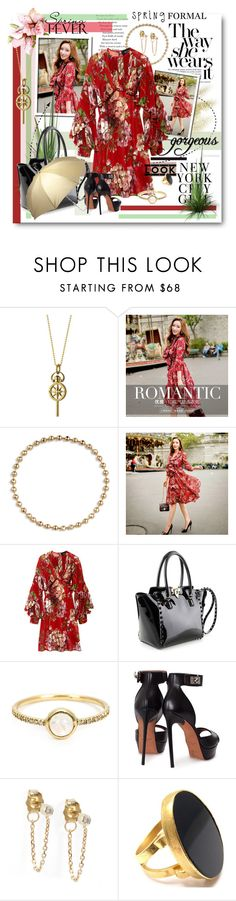 """Spring fever!!!"" by marleen1978 ❤ liked on Polyvore featuring Monica Rich Kosann, Dabuwawa, Gucci, Valentino, Irene Neuwirth, Givenchy, Yossi Harari and Totes"