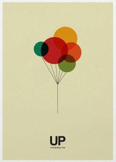 Up - Minimalist Poster  I love minimalist art!