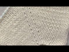 в'язання спицями, добавляємо петлі, лицьова петля з протяжки - YouTube