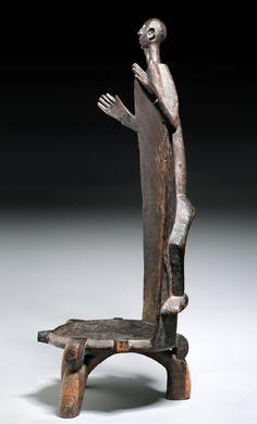 Africa   Chief's chair from the Wanyamwezi people of Tanzania   Wood   19th century