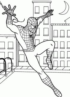 Spiderman Coloring Pages For Free See the category to find more printable coloring sheets. Also, you could use the search box to find what you want. Superhero Coloring Pages, Spiderman Coloring, Marvel Coloring, Cartoon Coloring Pages, Adult Coloring Pages, Free Coloring, Coloring Sheets, Spider Coloring Page, Fall Coloring Pages