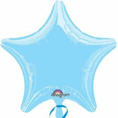 """Light Blue Star 18in Balloon by MAYFLOWER DISTRIBUTING CO. $1.73. Ships Uninflated; 1 per package. These popular solid color 18"""" Mylar balloons inflate into a festive star shape. Choose from a fun assortment of colors including black, silver, white, purple, green, red, blue, light blue, pink, yellow and gold. Fantastic for all kinds of events! Little Prince Party, Mylar Balloons, Long Hoodie, Star Shape, Best Sellers, Party Supplies, Purple, Pink Yellow, Athletic Tank Tops"""