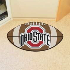 Ohio State University Buckeyes Football Floor Rug Mat