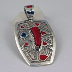 Michael Perry Sterling Silver Pendant.   #nativeamericanjewelry    #turquoisejewelry http://www.leotasindianart.com/