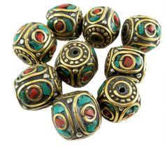 Tibetan Nepal Beads 20 mm x 19 mm