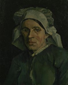 In the winter of 1884–1885 Vincent van Gogh produced over 40 studies of farmworkers' heads, as he trained himself to paint figures. He wanted to show country people as they really were and to convey the harsh reality of their day-to-day existence.  This is such a study. Image: Vincent van Gogh, Head of a Woman, 1884-1885, Van Gogh Museum Amsterdam (Vincent van Gogh Foundation)