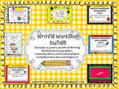 A bundle of writing workshop mini-lessons for the entire year!!!