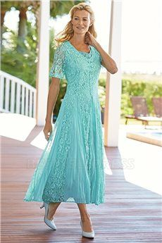 Sheath/Column V-neck Ankle-length Mother of the Bride Dress With Lace