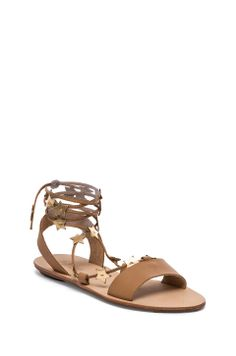 Loeffler Randall Starla Sandal in Buff & Gold//