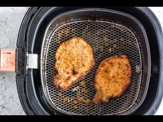 Air Fryer Pork Chops are everything delicious pork chops should be, only healthier. This is the perfect low carb or Keto Pork Chops Recipe. Air Fryer Oven Recipes, Air Fry Recipes, Pork Chop Recipes, Low Carb Recipes, Air Fryer Cooking Times, Cooks Air Fryer, Instant Pot Pork Chops, Air Fryer Pork Chops, Boneless Pork Chops