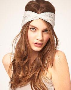 DIY Inspiration, knotted lace headband