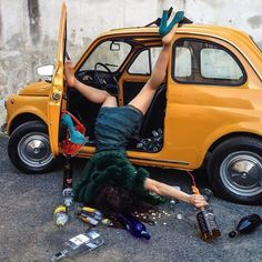 Hilariously Photos of People Posed as If They Have Just Fallen by Sandro Giordano | InspireFirst