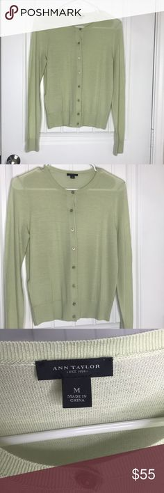 Ann Taylor Cardigan Size M Good condition  Has tiny whole in front left. Shear Ann Taylor Sweaters Cardigans