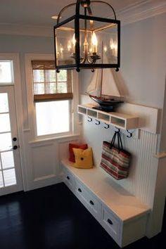 Mud Room/Entryway. Loving the built-in's @Natasha Massey