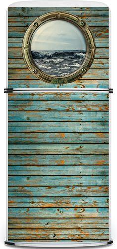 coastal fridge cover