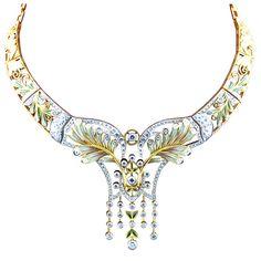 Estate Masriera Art Nouveau necklace, late 20th century. Question: could this be prettier? I doubt it.