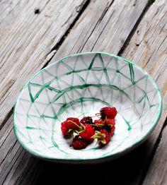 Hand-Painted Ceramic Triangle Bowl | Half Light Honey Studio
