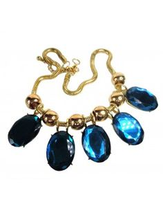 Statement Kette - Cocktail Collier - Blue Lady