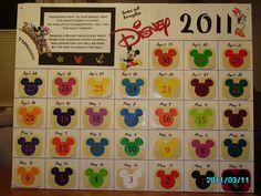 Disney Countdown idea MouseTalesTravel.com