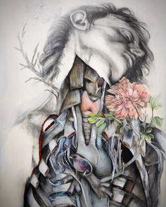 Artist Merges Humans, Flora And Fauna In His Marvelous Anatomical Illustrations Human Anatomy Art, Anatomy Drawing, Nunzio Paci, Decay Art, A Level Art Sketchbook, 3d Figures, Medical Art, Art Brut, Ap Art