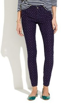 Dare I say...for fall??! Madewell Skinny Ankle Printed Cords