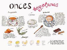 Liz lemon, la ilustradora de fachadas bogotanas, ilustra las onces bogotanas