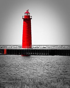 Red LIGHTHOUSE _____________________________ Reposted by Dr. Veronica Lee, DNP (Depew/Buffalo, NY, US)