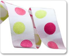 Purple and Pink Polka Dots Ribbon