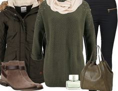 Tolles Freizeitoutfit für einen winterlichen Look mit Boots, Pullover und Schal <3 stylefruits <3