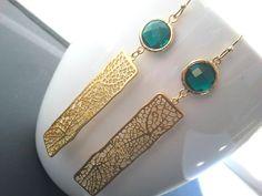 lampadario goccia : ... +oro+con+smeraldo+orecchini+lampadario+goccia+di+LaLaCrystal,+$33,50