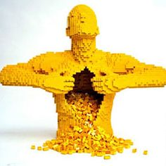 made out of legos. Idea=anatomy art made out of legos? yes.