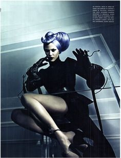 visual optimism; fashion editorials, shows, campaigns & more!: a point of view: lydia hearst, aymeline valade, catherine mcneil, crystal renn, and jamie bochert by steven klein for vogue italia september 2011