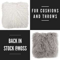 Fur cushions and throws back in stock they are so soft. #mossinteriors #shopmoss #destinationwarrnambool #shoplocal #shop3280 #fur  #homewares #styling #love #cushions @mossinteriors @_flowergallery by mossinteriors