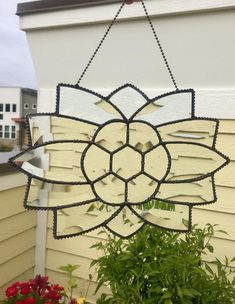 Items similar to Beveled Glass - Stained Glass Suncatcher - Clear - Window Hanging - Antiqued Finish - Glass Art - Beaded Metalwork - Victorian - Handmade on Etsy Gold Glass, Beveled Glass, Window Hanging, Window Glass, Glass Art Pictures, Antique Windows, Glass Paperweights, Glass Candle Holders, Stained Glass Art
