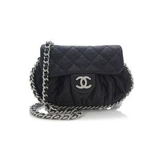 Rental Chanel Lambskin Mini Chain Around Shoulder Bag (215 CAD) ❤ liked on Polyvore featuring bags, handbags, shoulder bags, blue, blue shoulder bag, blue handbags, chanel purses, mini handbags and lambskin purse