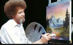 """El Placer De Pintar: ¿Recuerdas a Bob Ross?  ¿El pintor de árboles felices?  ¡Descubre algunas felices curiosidades de el! - http://wow.mx/2016/08/31/el-placer-de-pintar-recuerdas-a-bob-ross-el-pintor-de-arboles-felices-descubre-algunas-felices-curiosidades-de-el/ - Por allá de los años 1990, se trasmitía por la televisión mexicana en canal 11 un programa """"El Placer De Pintar"""", donde un personaje muy particular en este caso Bob Ross con un peinado crespo estilo af"""