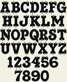 Cowboy Alphabet fonts