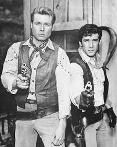 'Laramie' with John Smith and Robert Fuller. Robert Fuller who played Jessie John Smith Actor, Actor John, Laramie Tv Series, Robert Fuller Actor, Cinema Tv, Tv Westerns, Long Time Friends, Old Shows, Western Movies