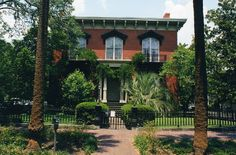 Mercer House. Savannah, Ga.--Setting for the book  Midnight in the Garden of Good and Evil.