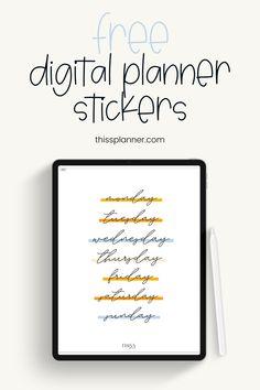 Planner Free, Planner Apps, Goals Planner, Printable Planner Stickers, Planner Template, Download Digital, School Planner, Digital Journal, Good Notes