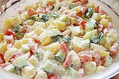 Danish Potato Salad from Goodfeels Potato Recipes, Veggie Recipes, Salad Recipes, Healthy Recipes, Entree Recipes, Grilling Recipes, Cooking Recipes, Potato Pasta, Potato Salad