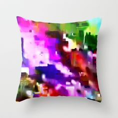 Glitchy Throw Pillow- Rose Thomas