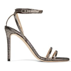 Jimmy Choo Memento Tizzy textured-leather sandals, Women's, Size: 36 (4,365 CNY) ❤ liked on Polyvore featuring shoes, sandals, heels, jimmy choo, schuhe, gunmetal, metallic sandals, jimmy choo sandals, jimmy choo shoes and heeled sandals