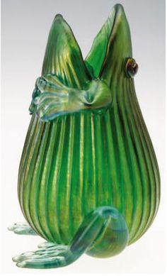 Loetz Frog vase.