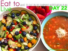 Day 22 -- What to eat on Dr Fuhrman's Eat to Live Nutritarian plan!  Clean eating, healthy food