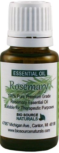 Rosemary Essential Oil Aromatherapy 1 fl. oz / 30 ml, $15.10 Fresh, herbaceous, organic Rosemary essential oil calms apprehension while stimulating the spirit. Rosemary essential oil releases the emotional patterns of self-sabotage. It stimulates the mind and wakes up the brain.  Uses: reduction of cellulite, dandruff.  ease arthritis, constipation, headaches, Gallbladder, Lymphatic damage, appetite, anti-aging.  I ncrease circulation, hair growth, memory.
