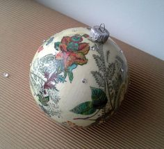 Christmas baubles are decorated with decoupage technique and then repeatedly varnished. After varnishing, balls are additionally decorated. These ornaments will add charm t... #housewares #holidays