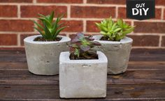 Man Up to Craft  Guy DIY: Easy Cement Planters http://blog.michaels.com/blog/guy-diy-modern-cement-planters