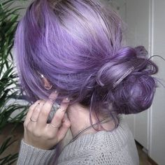 Metallic Purple Tones - Purple Hairstyles That Will Make You Want Mermaid Hair - Photos